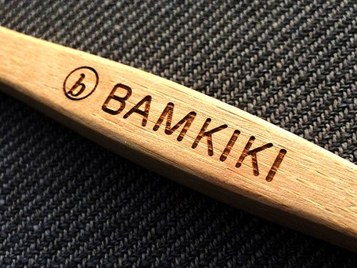 Bamkiki logo engraving is perfectly crafted with precise laser technology beam.