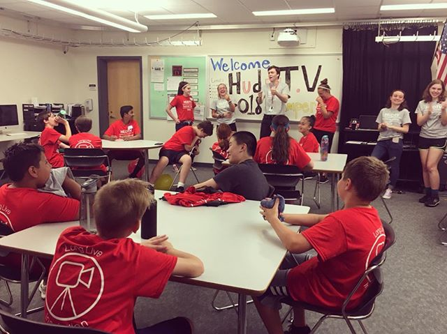 First day of camp was a success! We had a fun day filled with a variety of cool videos, time to prepare for tomorrow! • • • • • #summer #internship #intern #camp #summercamp #kids #campers #hudtv #video #varietyshow
