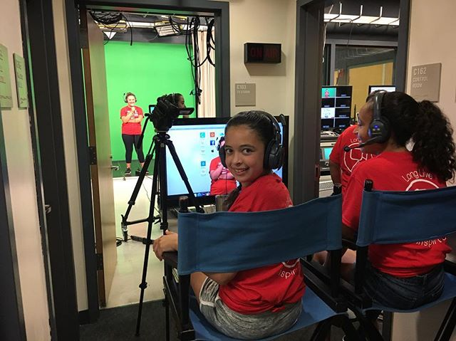 The campers learned some new things today, and had fun making a music video too! • • • • • #summer #internship #intern #camp #summercamp #hudtv #musicvideo #video #kids #greenscreen #tv