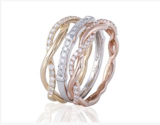 Sophia by Design 18k Tri-Gold 0.50 CT Diamond Ring