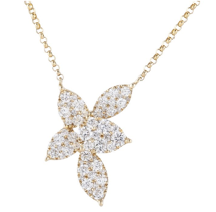 Sophia by Design 0.92 CT Diamond Necklace 18k Yellow Gold