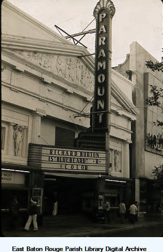 Paramount Theatre, Baton Rouge. Image courtesy of East Baton Rouge Parish Library Digital Archive.