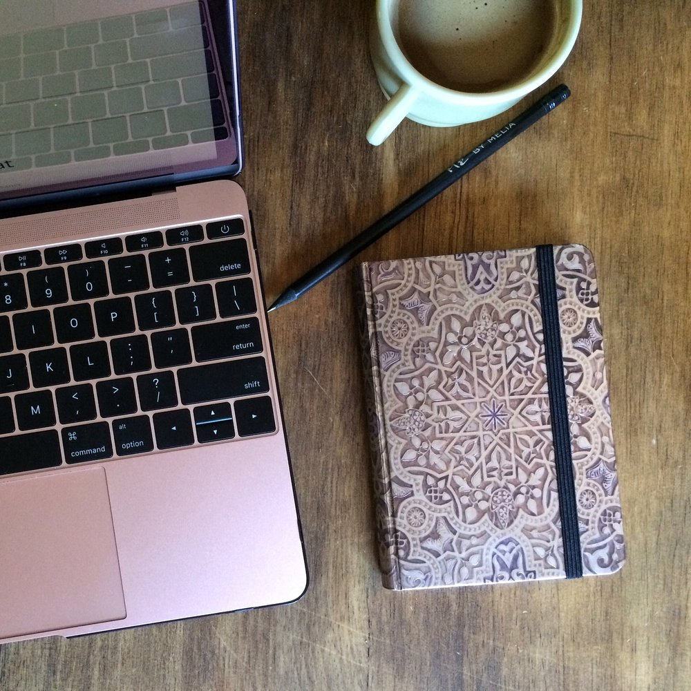 Can't help but love how well Rosie (my MacBook)  and new journal go together.