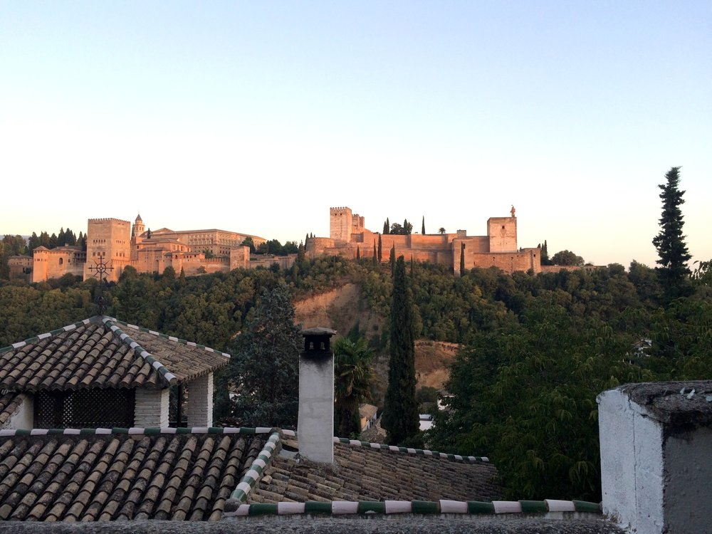 View of the Alhambra.