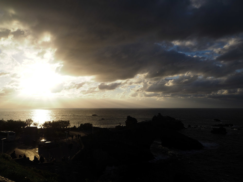 Looking towards Spain, from Biarritz France.