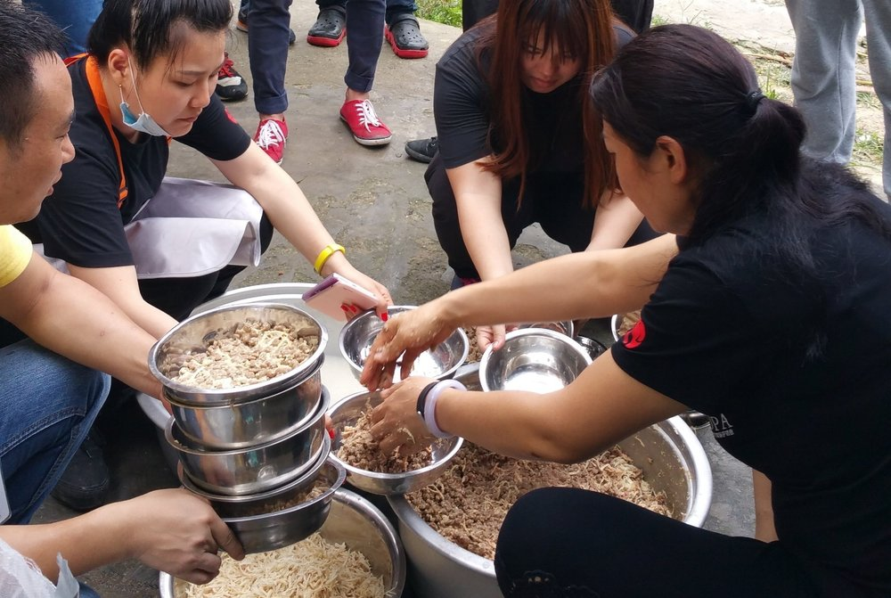 $4,000  SPONSOR FOOD: provide a month of food for our 2 Chinese shelters