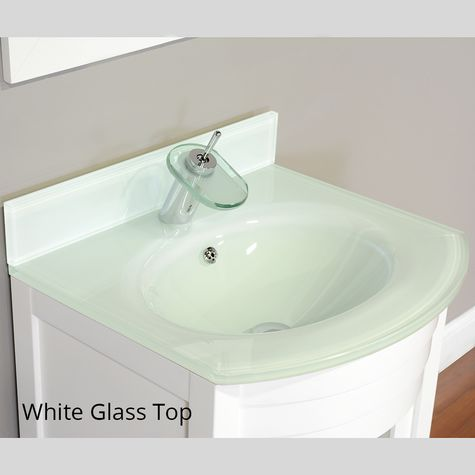 Elite Collection Single Modern Bathroom Vanity | Optional Glass Top ...