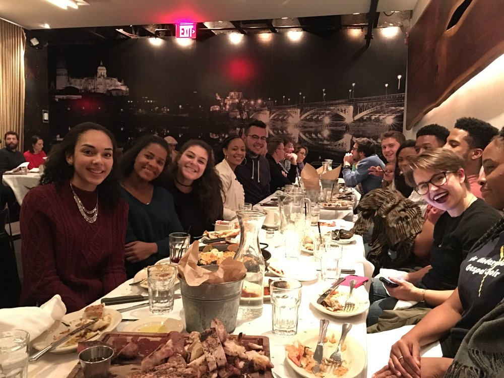 Lab & Fam Winter 2016 Dinner