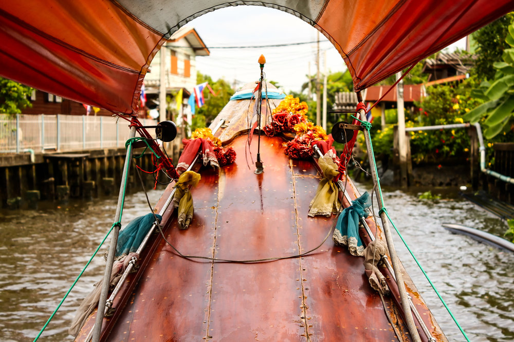 Boston Luxury Custom Honeymoon Travel Agent Advisor Planning Bangkok Floating Market Boat Long Tail.jpeg
