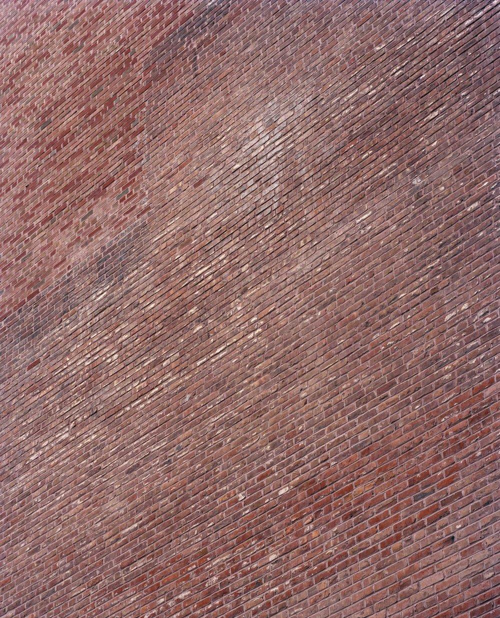 "brick wall on west 4th, 28"" x 35"""