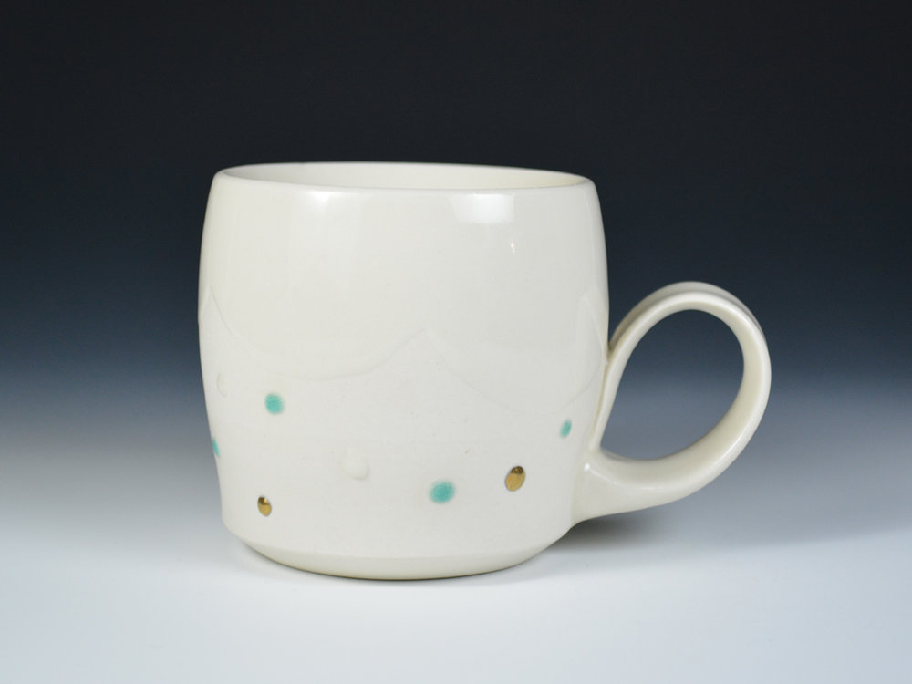 Mynthia McDaniel: Cloud Series porcelain cup.