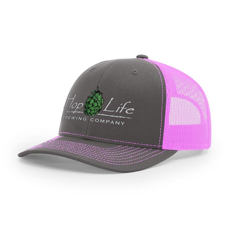 Hop Life Pink Mesh-Back Cap - Hop Life Brewing Company cbf8ccd1faa