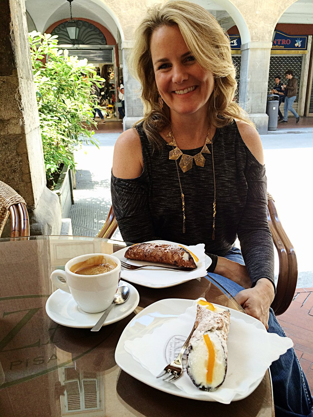 Taking a coffee break while doing research in Pisa, Italy!!!!!