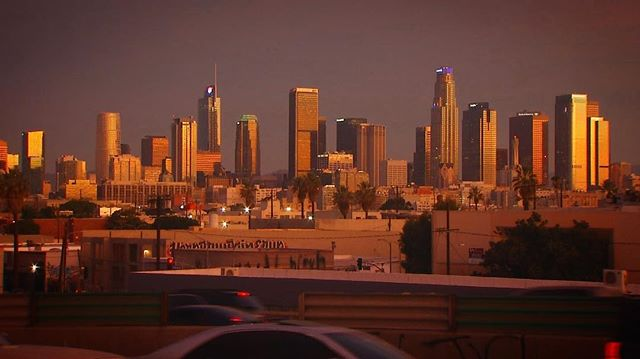 Sunrise in Los Angeles this morning. We are ready to get the day started.  #skyline #dtla #sunrise