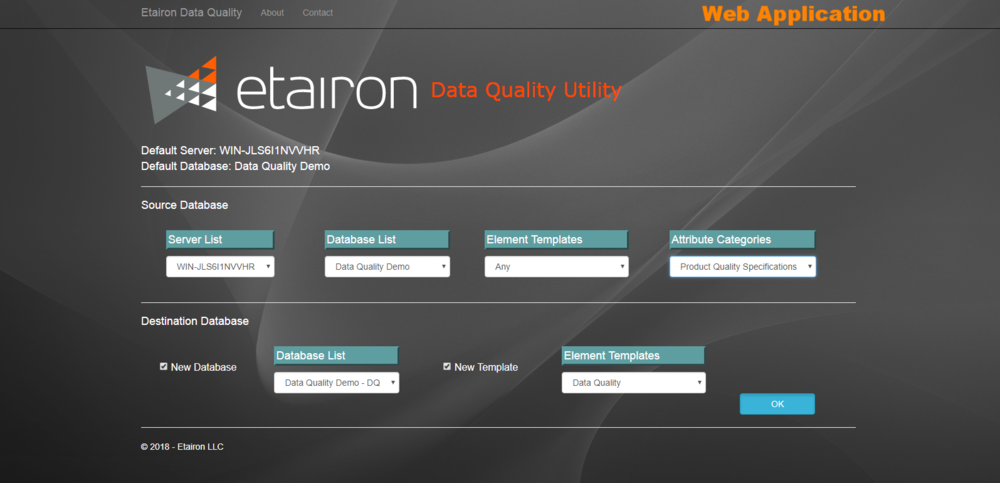 Data Quality Web Application