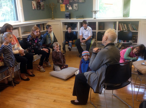 Children's services at our synagogue often feature storytelling by members of the congregation.