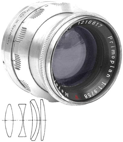 Meyer Optik Gorlitz Primoplan 58mm f/1.9 Red V