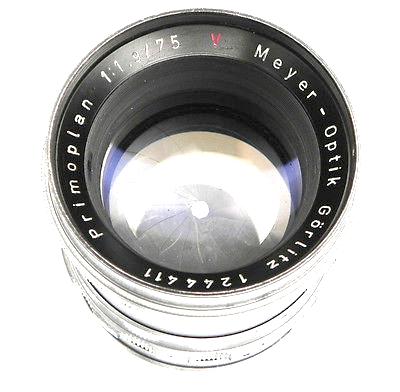 Meyer Optik Gorlitz Primoplan 75mm f/1.9 Red V
