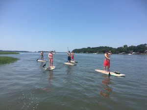 Paddle boarding with Island Head Watersports