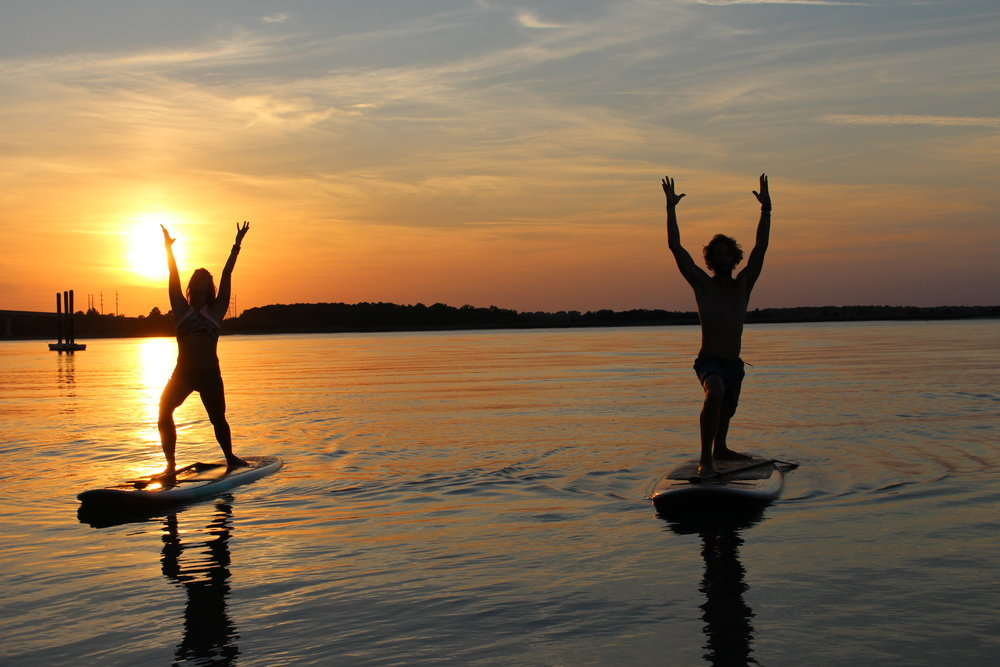 SUP Yoga at Island Head Watersports
