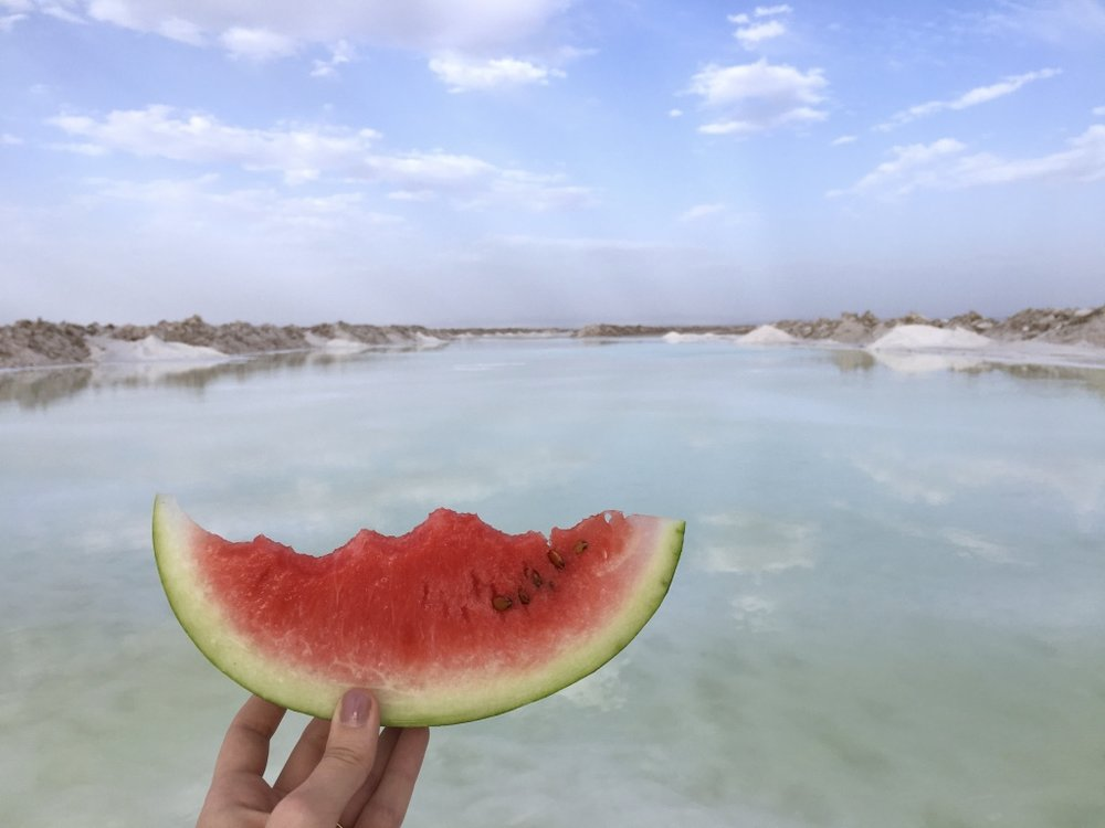 iran-isfahan-salt-lake-watermelon