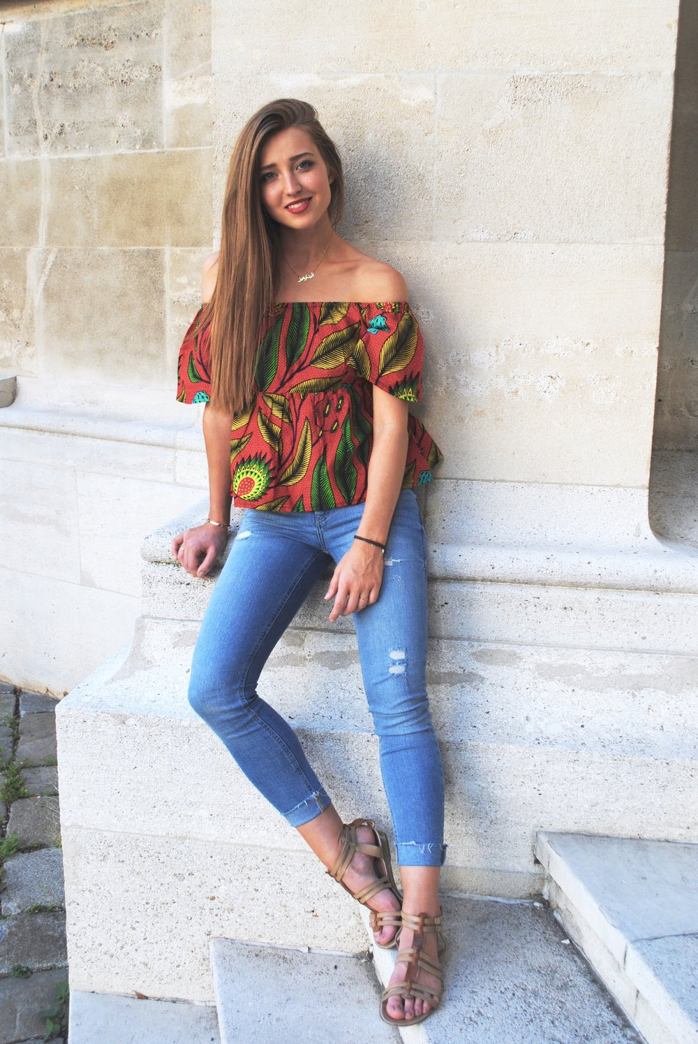 Isn't this top just gorgeous? LOVE the bright colors & cut!