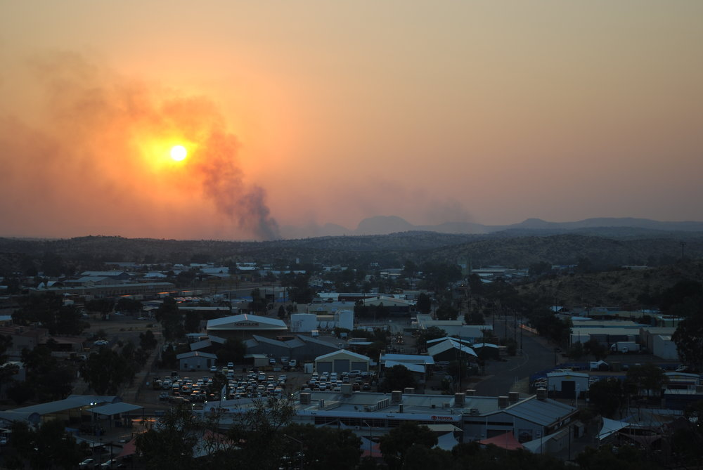 Alice Springs Anzac Hill view sunset