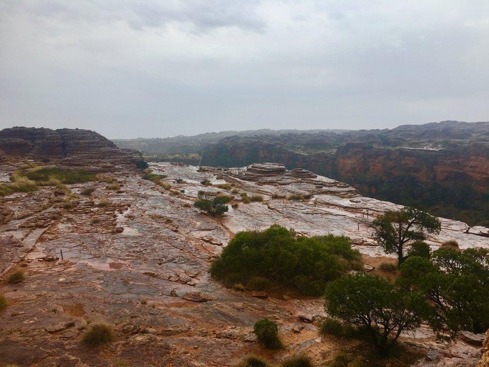 King's canyon rain