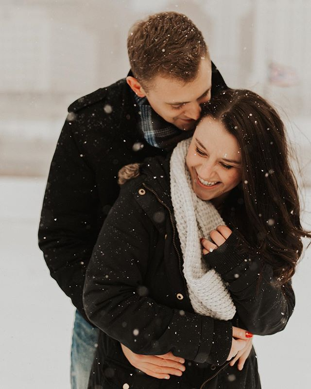 Happy Friday! I heard we're getting more snow here in Ohio this weekend... but if it looks as pretty as the snow in these engagement photos from last year... it's okay with me!  So this week started off with me arriving to work Monday morning and spilling my lunch! It was yummy homemade chicken tortilla soup... and my container broke and every ounce of soup ended up on the office carpet 😑 Not the most positive way to start off the week! I was definitely ready to fast forward to the weekend already!! But the week did get better! I've been able to get lots of work done in the evenings and grab dinner with @clairekeathleyphoto !! So not a bad week! Just need to let the annoying things (like having to clean up my soup off the office carpet...) NOT get to me! It's not the end of the world! Just clean up the mess and move on to more positive things! ;) Anyone have any little things like that happen this week that you had to move past?