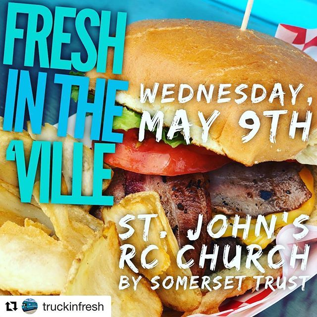 -TOMORROW- we'll be #TruckinFRESH at St. John's Church beside Somerset Trust in Connellsville from 11am-3pm! . 🍔🥗🍇 Check out our current menu online! (link in bio) . . . . #FRESH #foodtruck #food #yummy #truckin #connellsville #getyourgrubon #freshfood #madefresh #eatfresh
