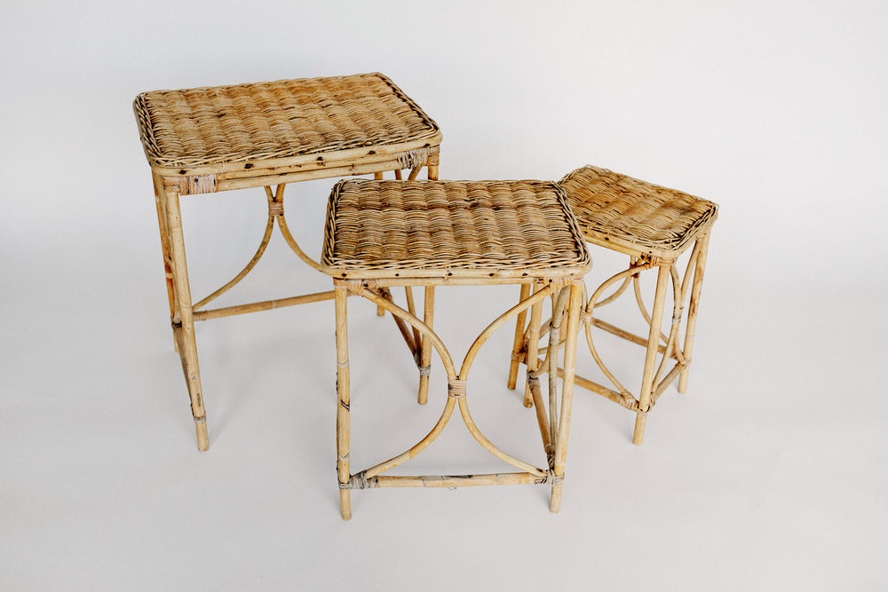 Cane Accent Tables
