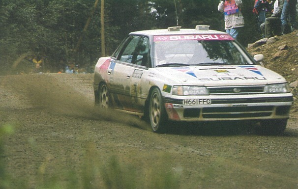1990 Subaru Legacy rally car