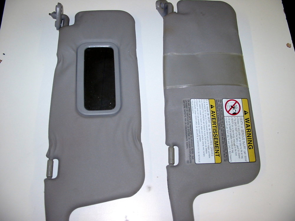 Interior trim, visors L & R (1998-2001 Impreza)