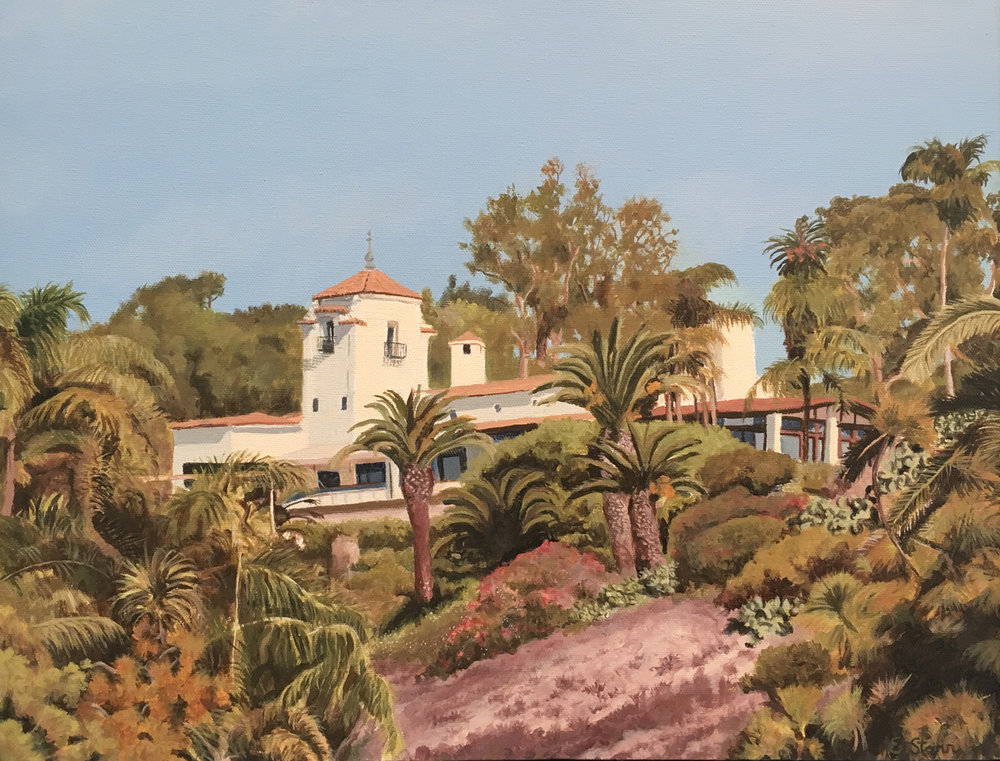 "Bel Air Bay Club, Water Soluble Oil Paint, 15.5"" x 19.5"""