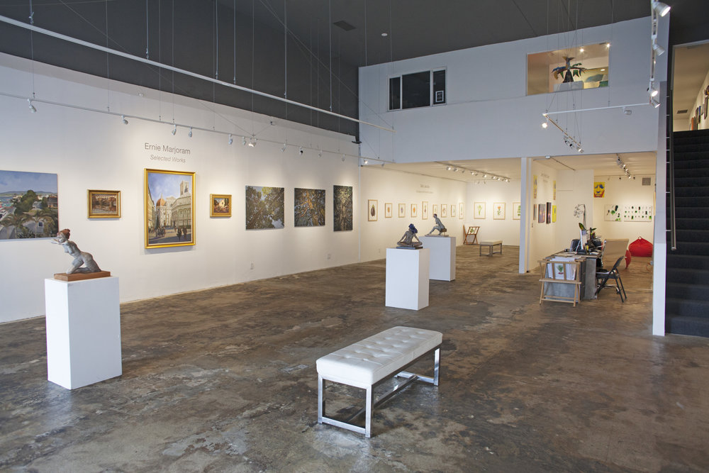 - Currently Exhibiting:Sally jacobs, ernie marjoram,toni reinis, & jenny revitz soperTuesday, April 17 - Saturday, May 12Opening Reception: Saturday, April 21, 5 - 8 pmArtist Panel: Saturday, May 12,3 PMGallery Hours:Tuesday - Saturday, 11 am - 5 pmTelephone: 310.829.95565458 Wilshire Blvd, Los Angeles, CA 90036Press Release|Map| Installation Images