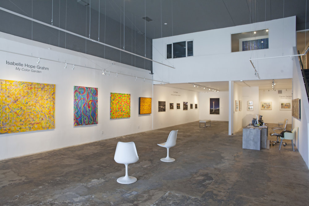 - Currently Exhibiting:Carole garland,isabelle hope grahm,& tom wheelerTuesday, May 15 - Saturday, June 9Opening Reception: Saturday, May 19, 6 - 10 pmArtist Panel: Saturday, June 2,3 PMGallery Hours:Tuesday - Saturday, 11 am - 5 pmTelephone: 310.829.95565458 Wilshire Blvd, Los Angeles, CA 90036Press Release|Map| Installation Images