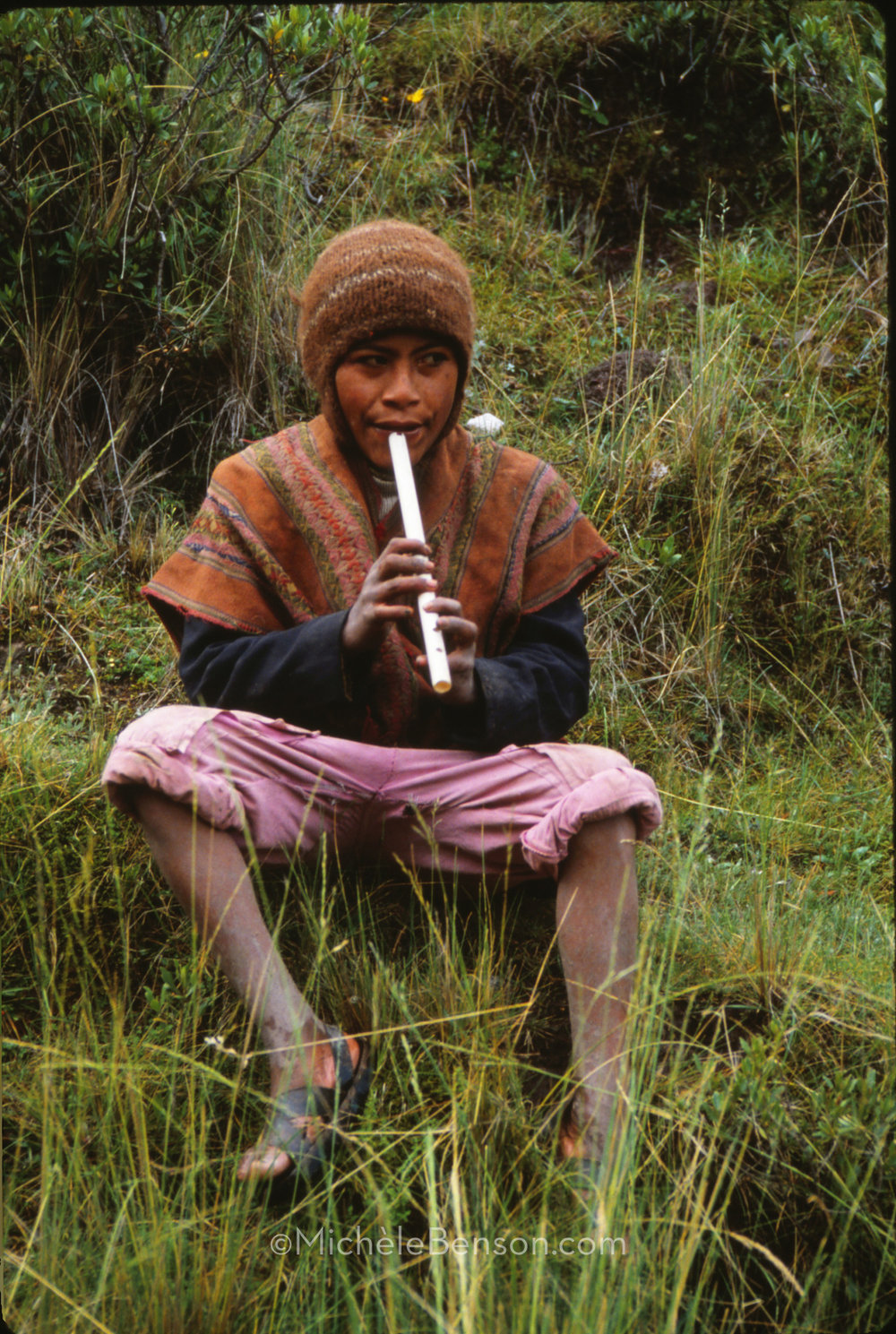 Peruvian Boy with Flute