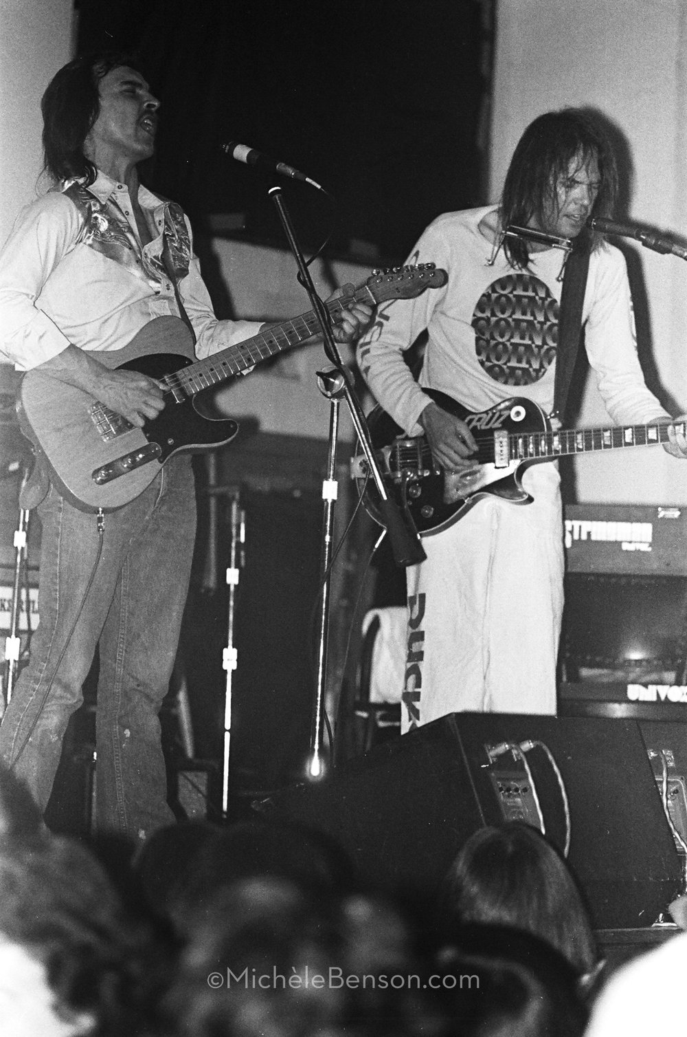 Neil Young and Jeff Blackburn The Ducks Catalyst- spring-1976