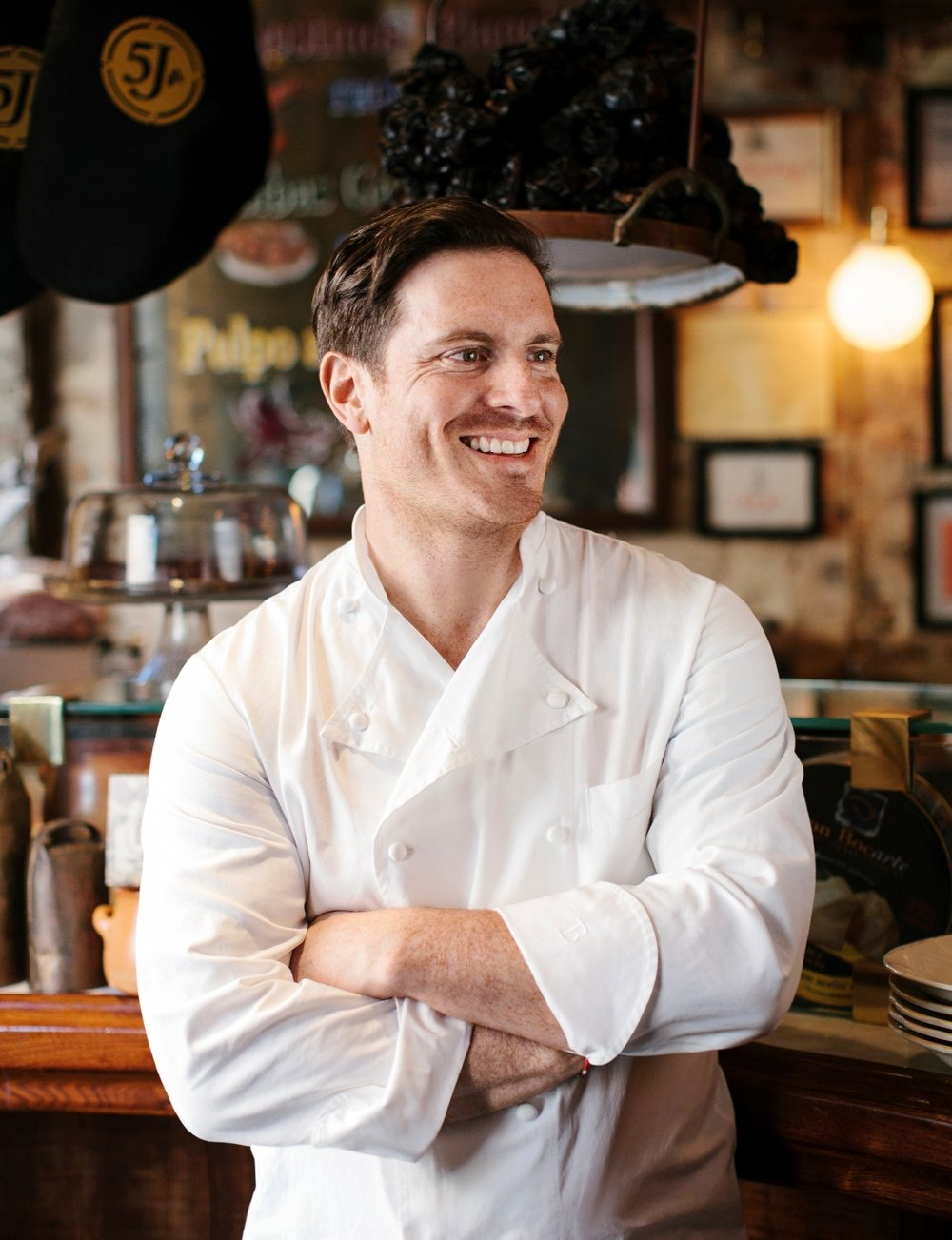 Chef Seamus Mullen at his West Village restaurant Tertulia