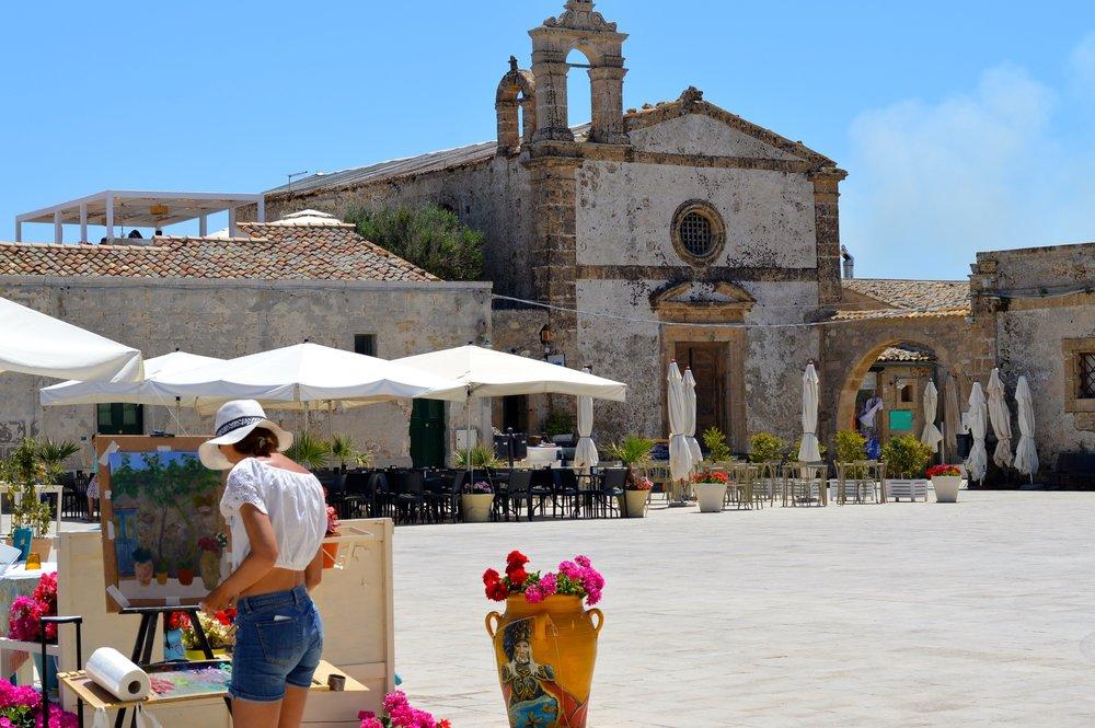 Church square in Sicily