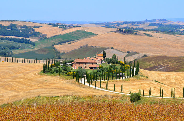 Hills and valleys of Tuscany, Italy