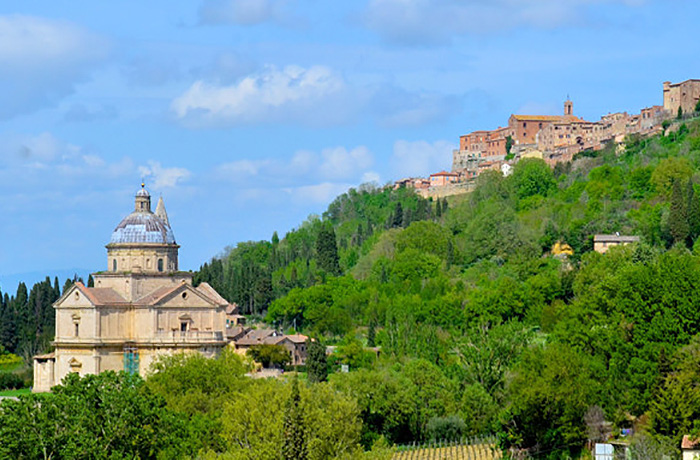 View of a hilltop town in Central Italy