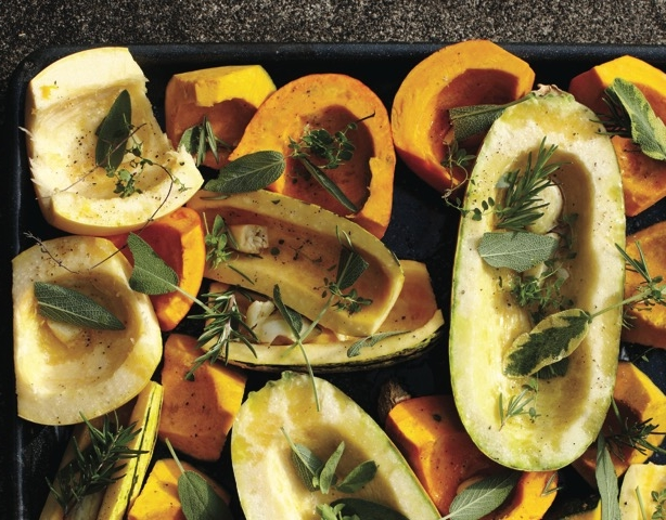 Roasted winter Squash prepared with