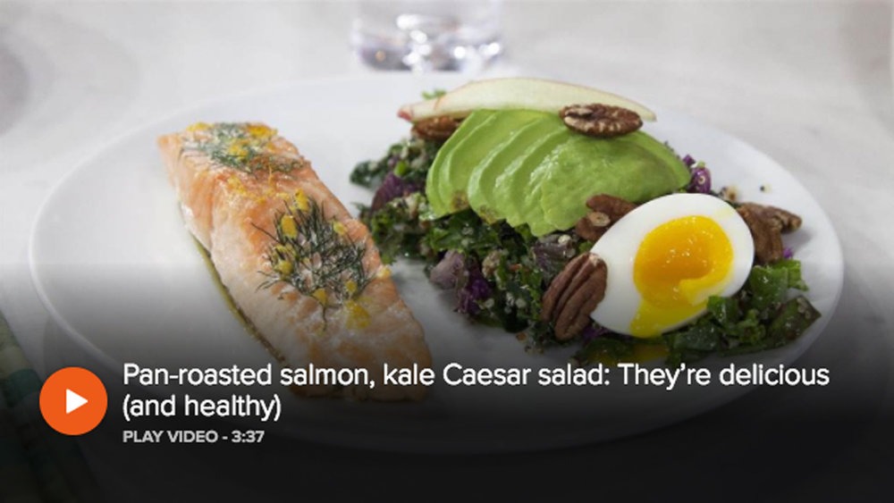 The TOday Show - Pan-Roasted Salmon, Kale Caesar Salad with Seamus Mullen