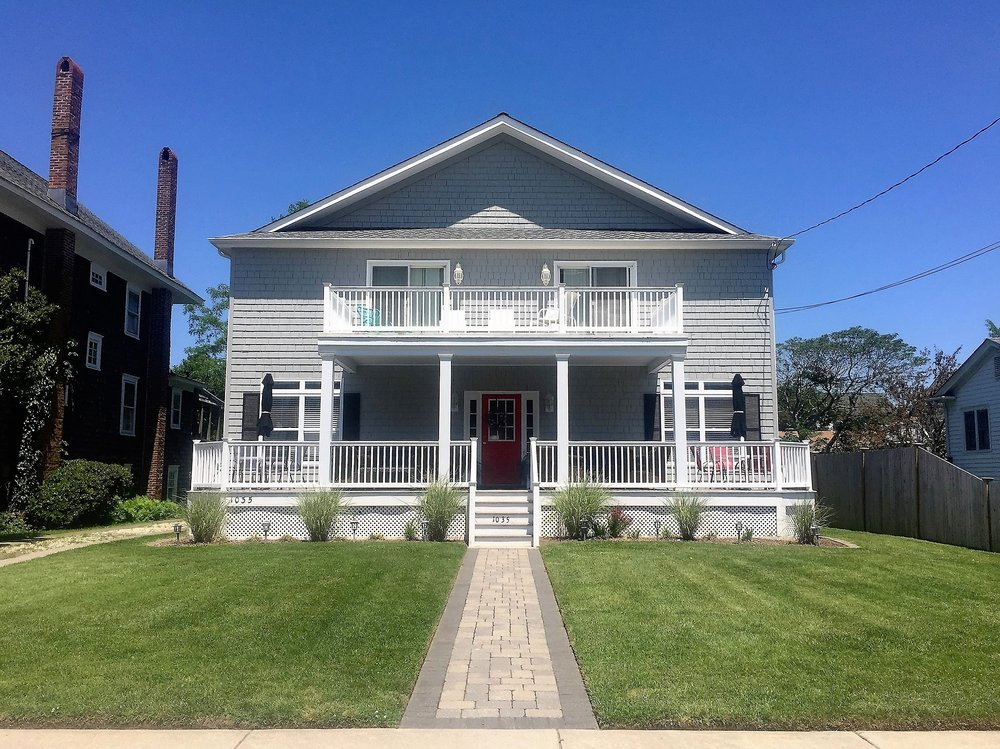 1035 New Jersey Ave - Rent this large 7 bedroom house. Enjoy modern accommodations while taking in Cape May's historic charm. Perfect for large groups and gatherings. Steps to the beach and a short walk to town.