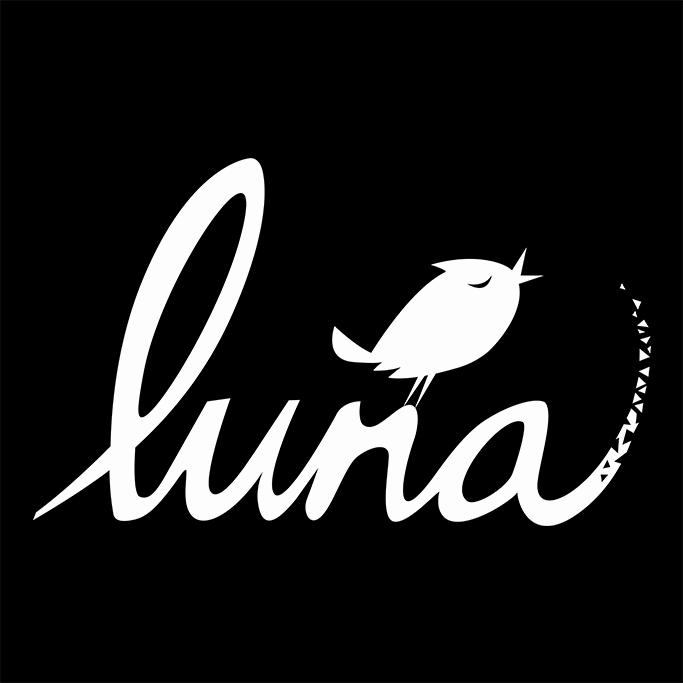 Luna (White on Black)