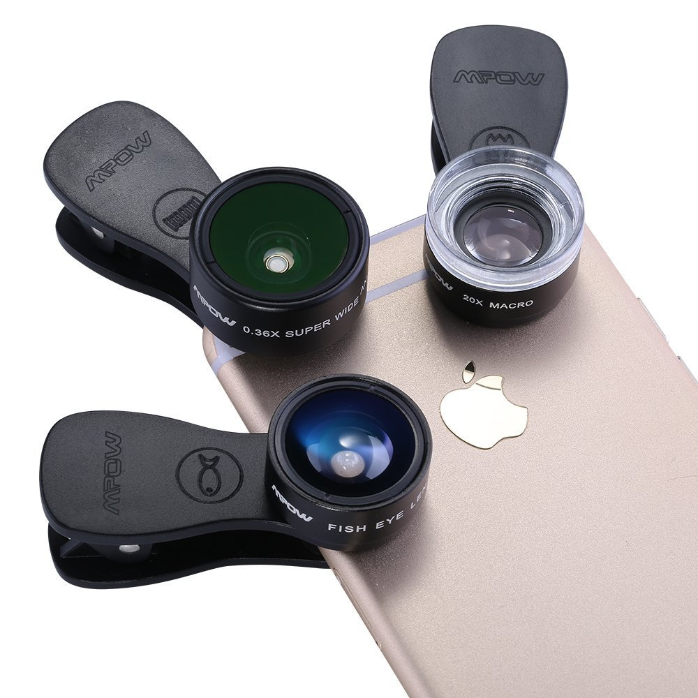 1 -iPhone Camera Lens System Save room in your suitcase, and pack an attachable camera lens($20, originally $40) for your iPhone instead of a bulky camera.