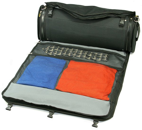 Roll-Up Luggage Carrier The last thing you want to do when you arrive at your destination is take out an iron and fix the many creases caused by hours of traveling. Eliminate the issue with a roll-up luggage carrier($150).