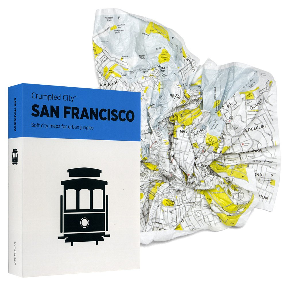 Crumpled City Map A light, waterproof city map($17) that crumples up conveniently to fit inside your bag or pocket? Yes, please!