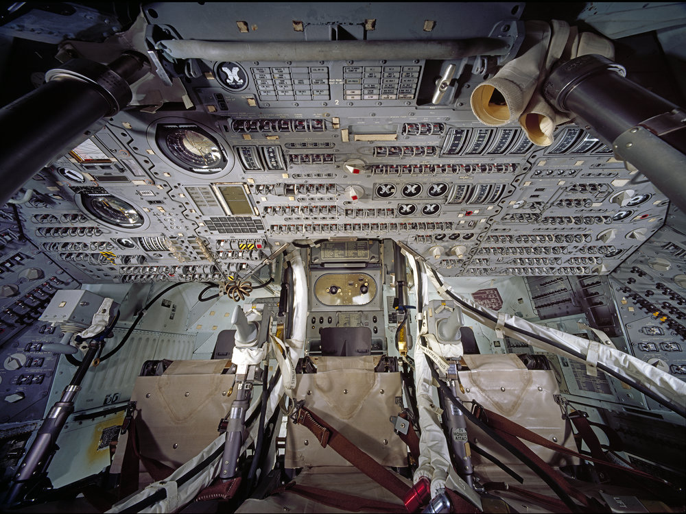 A view inside the Apollo Command Module